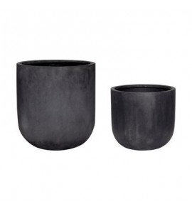 POT  FIBERSTONE  BLACK  ?33XH31