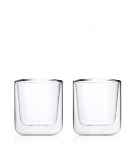 SET OF 2 INSULATED ESPRESSO GLASSES