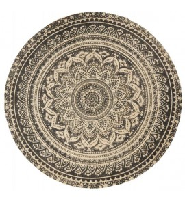 MAT ROUND CARPET W BLACK PRINT