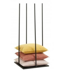 IRON PILLOW STAND IN BLACK