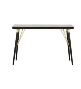 CONSOLE TABLE IN BLACK WOOD