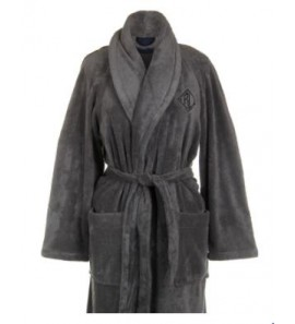 CLLANGDO CHARCOAL BATHROBE L