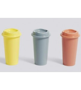 PAQUET COFFEE CUP SET OF 3 YELLOW