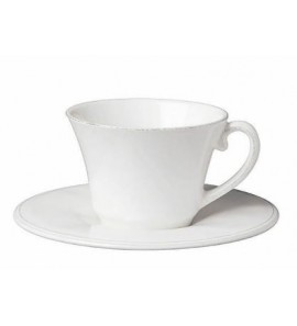 CONSTANCE WHITE BREAKFAST CUP&SAUCER