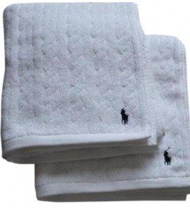 CABLE WHITE GUEST TOWEL