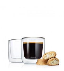 S/2 INSULATED COFFEE GLASSES