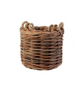 S/3 WOODLOG BASKET LOXWOOD ROUND