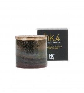 HK.4 CERAMIC SOY CANDLE WOODY AMBER