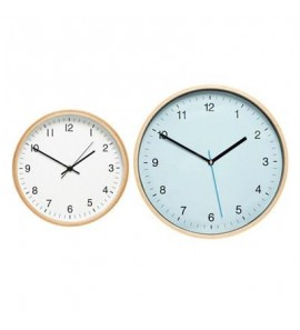 CLOCK WOODEN FRAME BLUE