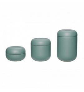 JAR W/LID  CERAMICS  GREEN  S