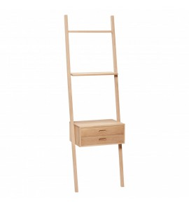 DISPLAY LADDER W/DRAWERS OAK