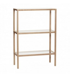 SHELF W3  SHELVES  OAK AND GLASS