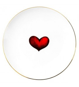 SMALL PLATE RED HEART